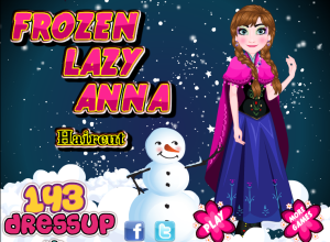 Juegos Frozen Lazy Anna Haircut